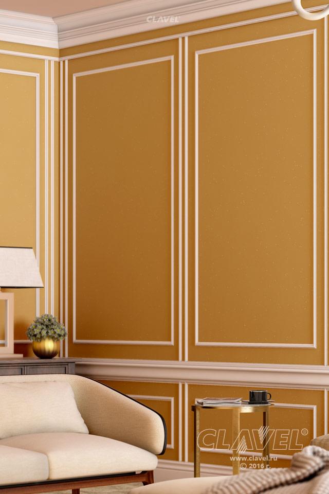 Декоративная краска с эффектом искринок - фото в интерьере. Гостиная
