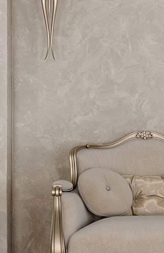 Венецианская штукатурка бежевого цвета  - фото в интерьере. Гостиная