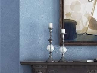 Декоративная штукатурка с натуральными волокнами - фото в интерьере. Спальня